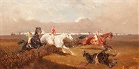 carrera de caballos y batalla (pair) by alexander ritter von bensa