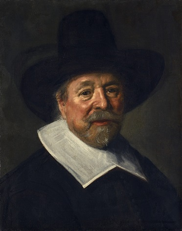 bildnis eines mannes mit hut reverend john livingston by frans hals the elder