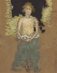 jeune femme au torse dénudé by pierre bonnard