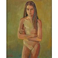 puberty; three girls; three girls (3 works) by duncan hannah
