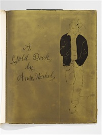 a gold book (book with 19 works) by andy warhol