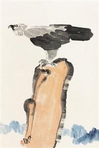 鹰石图 (一件) by wu zuoren