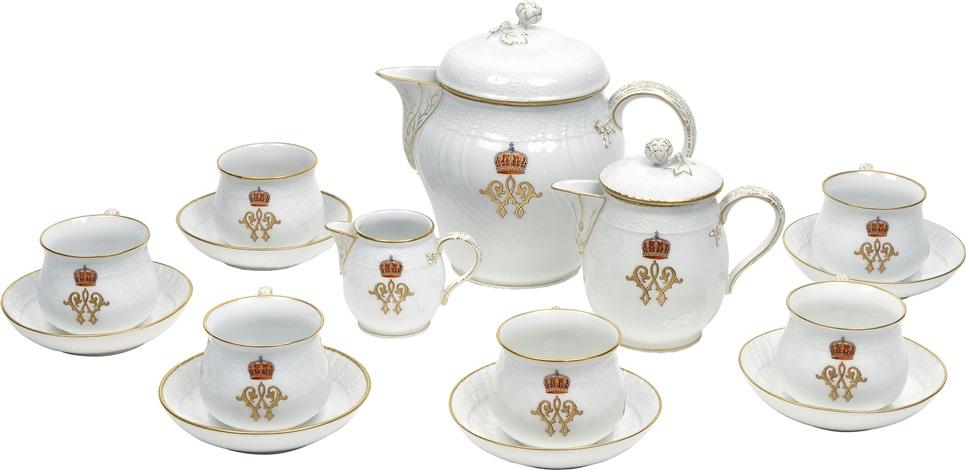 kaffeeservice aus dem besitz kaiser wilhelm ii set of 9. Black Bedroom Furniture Sets. Home Design Ideas