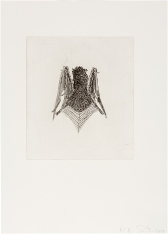 bat front bat back 2 works by kiki smith
