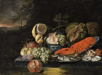 still life with lobster by jan pauwel gillemans the elder
