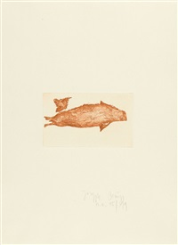 1 bl. aus: suite zirkulationszeit: meerengel robbe 3 by joseph beuys