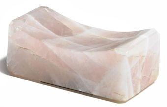 untitled rose quart pillow by marina abramović