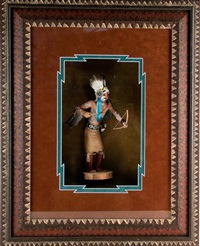 warrier maiden hopi kachina doll by lowell talashoma