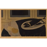 les poissons noirs by georges braque