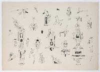 compositions surréalistes, (4 works) by jorge camacho