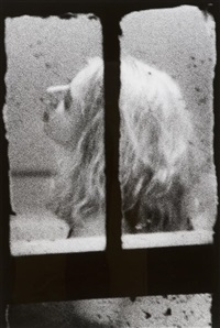 a group of four works from the series dirty windows by merry alpern