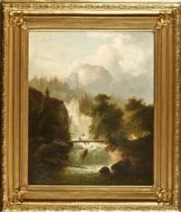 gebirgslandschaft mit wildbach by joseph gaertner