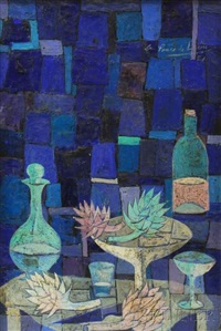 modernist still life by angel ponce de leon