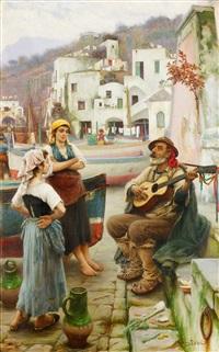 spelemannen och fiskarflickorna - motiv från capri by horace fisher