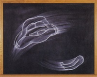 black chalkboard (ahhhh, please) by gary simmons