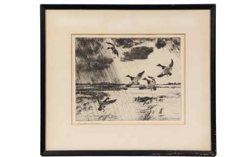 mallards rising by frank weston benson