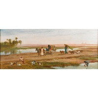 bedouins in the desert by frederick goodall