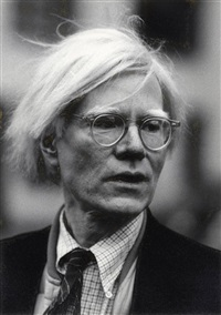 portrait andy warhol mit brille by werner krüger