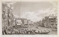 bucintoro e fiera veneta nel di dell'ascensione (+ another; 2 works) by antonio visentini