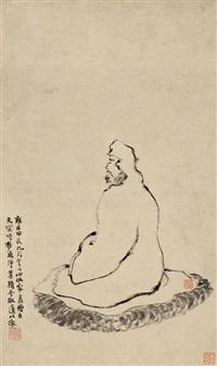 高僧图 (respectable monk) by jin nong