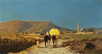 orientalische landschaft by auguste bouchet