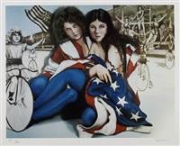 ladies in flag by robert anderson