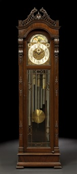 nine-tube tallcase clock by thomas chippendale