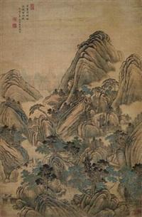 万山堆秀图 by tang dai