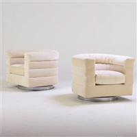 swivel lounge chairs (pair) by pace manufacturing (co.)