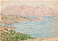paisaje costero de mallorca by pere isern alié