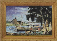 bayou dockside by william arnold