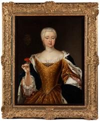 dreiviertelportrait einer jungen dame des hochadels by anonymous (18)