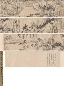 溪山深秀图 landscape by shen zhou