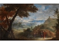 landschaft mit jesus der zwei jungen auf dem weg nach emerus erscheint by anonymous-italian (17)