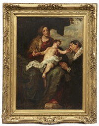 madonna and child with donor by sir anthony van dyck