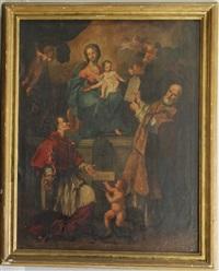madonna con bambino e santi by anonymous (18)