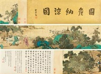 图侯纳凉图 by yu zhiding
