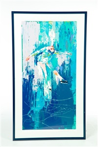 ice skater by leroy neiman