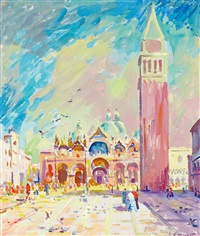 basilica di san marco mit campanile by konrad honold