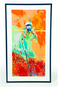 pole vaulter by leroy neiman