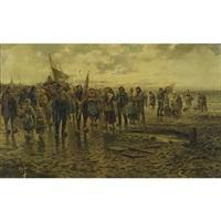 returning from fishing (no. 5722) by philip lodewijk jacob frederik sadée
