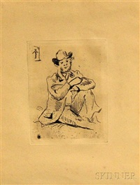 portrait du peintre a. guillaumin au pendu by paul cézanne