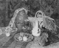 stilleben mit hühnern by mykola tschornokapskij