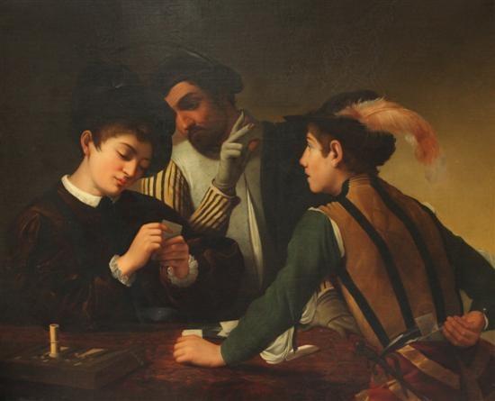 the card sharps by michelangelo merisi da caravaggio