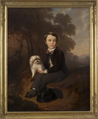 portrait of a boy and his dog by ernst georg fischer