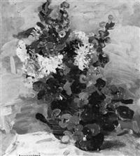 blumenstilleben mit kapuzinerkresse by mykola tschornokapskij