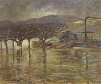 überschwemmung in boppard 1920 by hans kruzwicki