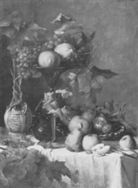stilleben mit weintrauben, äpfeln, birnen und zitrusfrüchten by anthonie boubong