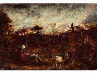 landschaft mit hirtenidylle by diaz de la pena