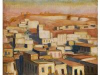blick über eine ägyptische stadt by charles sayers